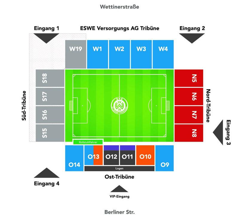 Stadionplan Magdeburg