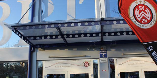 Eingang zur Geschäftsstelle über Tor 4